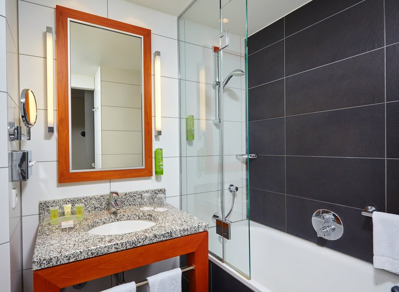 Holiday Inn Berlin Centre Alexanderplatz-Stylish Guest Bath and Shower<br/>Image from Leonardo