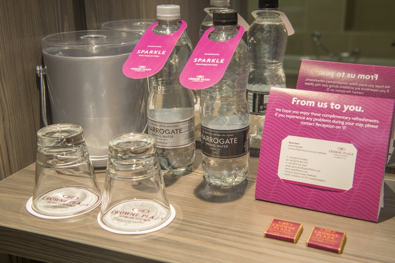 Holiday Inn Sheffield-Complimentary water in all rooms<br/>Image from Leonardo