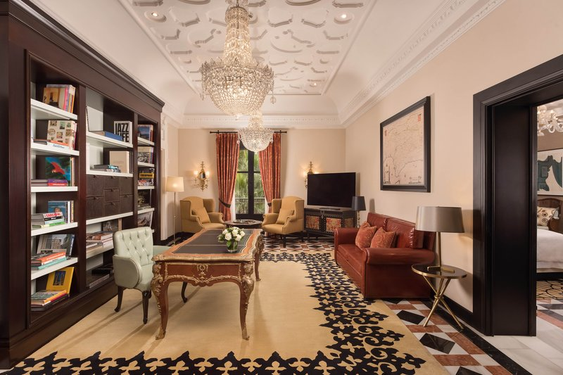 Hotel Alfonso XIII; a Luxury Collection Hotel Seville-Victoria Eugenia Suite - Living Room<br/>Image from Leonardo