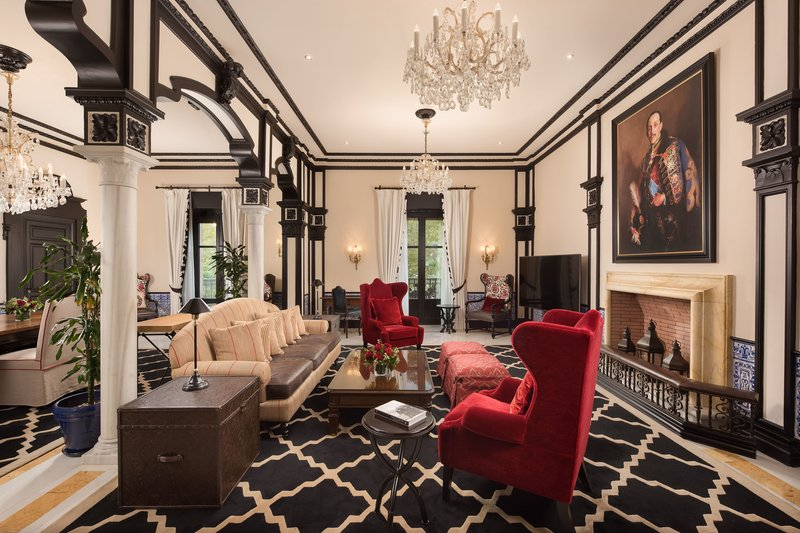 Hotel Alfonso XIII; a Luxury Collection Hotel Seville-Alfonso XIII Suite - Living Room<br/>Image from Leonardo
