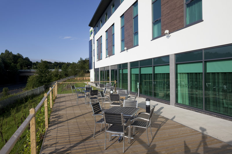 Holiday Inn Express Burnley M65, Jct.10-Why not relax and enjoy a drink on the exterior decking area?<br/>Image from Leonardo