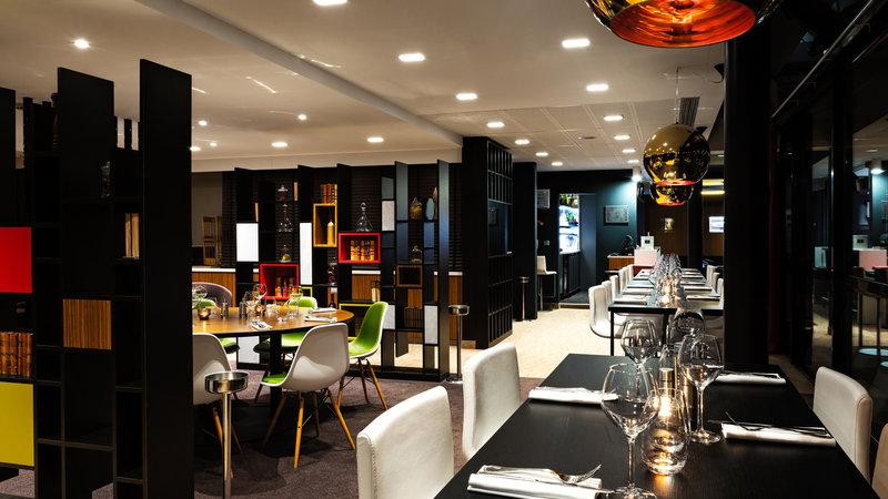 Holiday Inn Reims Centre-Restaurant by night<br/>Image from Leonardo