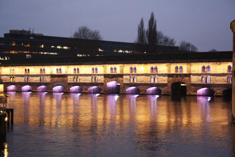 Holiday Inn Express Strasbourg Sud-Covered Bridges by night in Strasbourg<br/>Image from Leonardo
