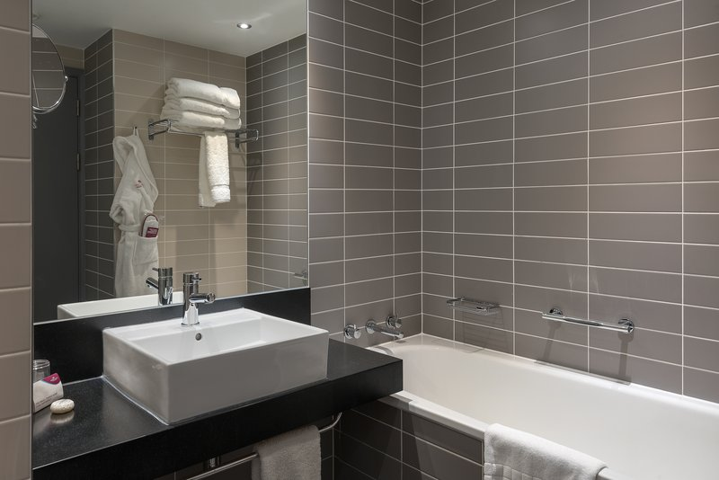 Crowne Plaza Manchester City Centre-Guest Bathroom<br/>Image from Leonardo