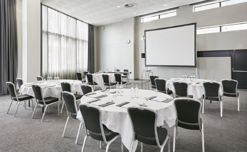 Crowne Plaza Manchester City Centre-Smithfield Suite One - Cabaret layout<br/>Image from Leonardo