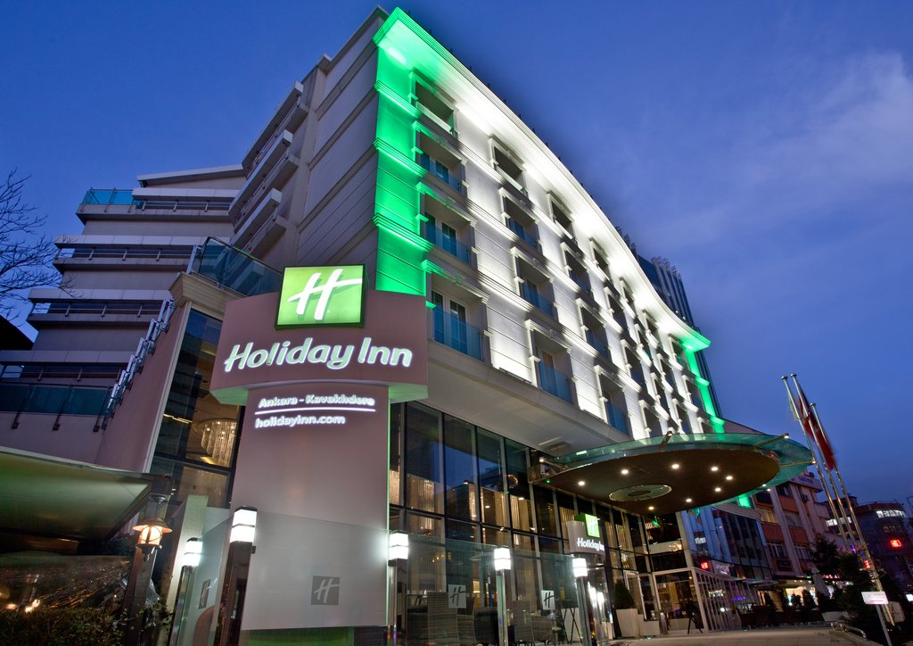 Holiday Inn Ankara-Kavaklidere-Hotel Exterior Twilight<br/>Image from Leonardo