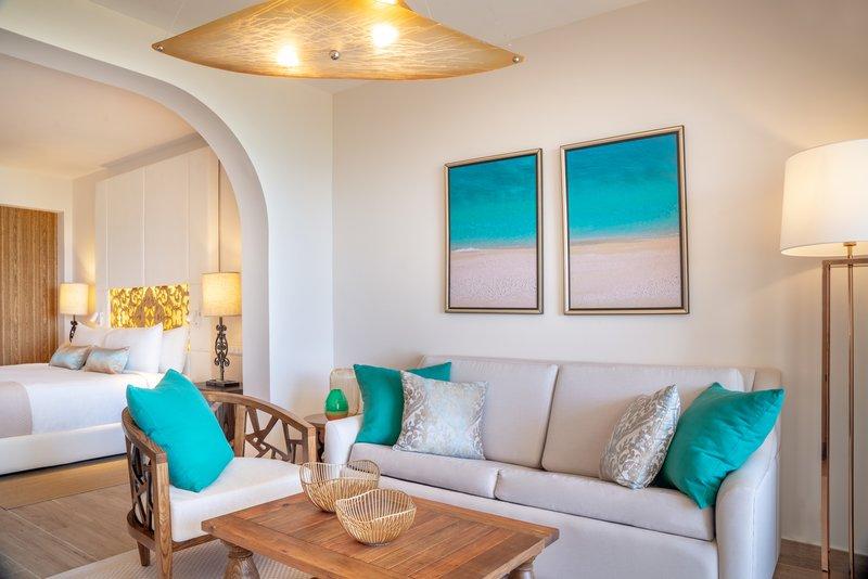 Sanctuary Cap Cana - Premium Luxury Jr Suite Ocean View Living Area <br/>Image from Leonardo