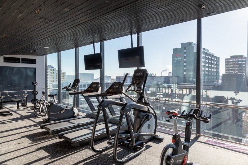 Holiday Inn Helsinki - Exhibition & Convention Centre-Holiday Inn Helsinki - Expo Gym with a urban view<br/>Image from Leonardo