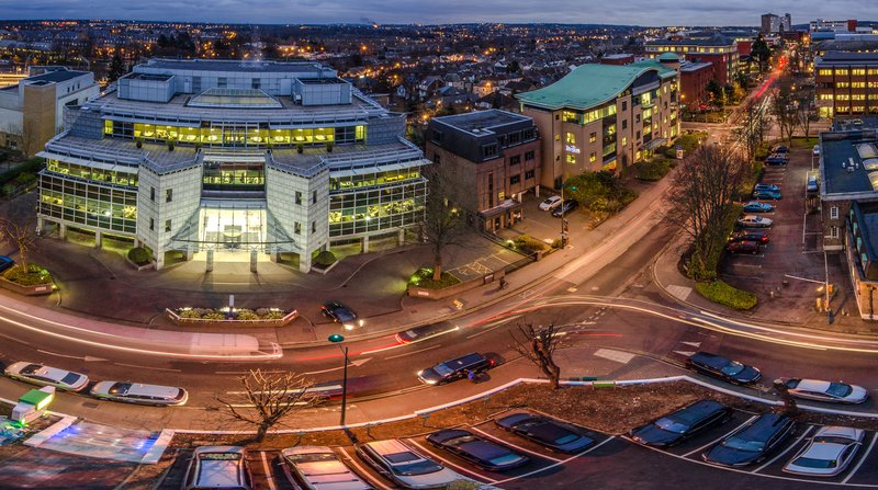 Holiday Inn London - Watford Junction-Night view over Clarendon Road<br/>Image from Leonardo