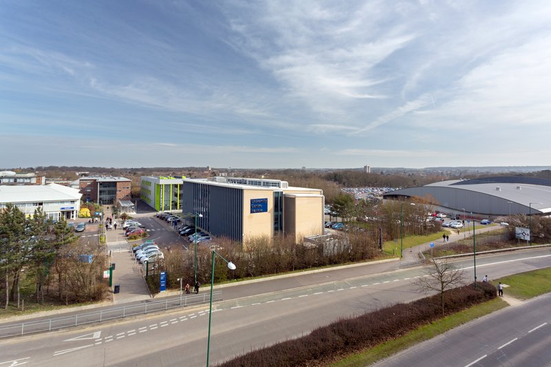 Holiday Inn Express Harlow-Take in views of the university from our guest rooms<br/>Image from Leonardo