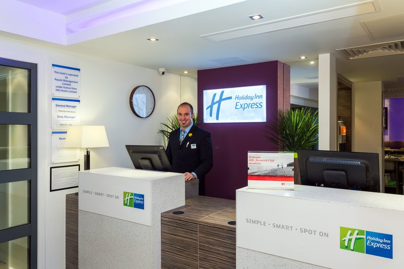 Holiday Inn Express Harlow-Our friendly Front Desk staff is here to accommodate you<br/>Image from Leonardo