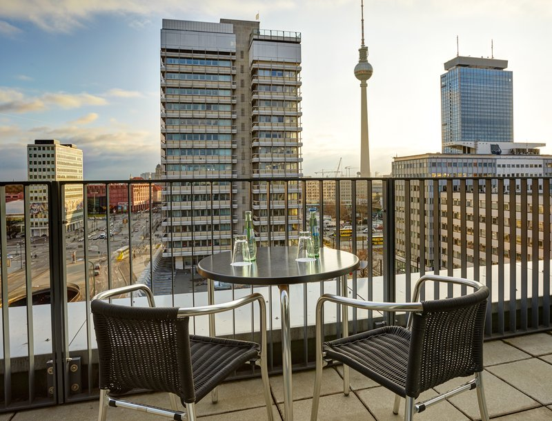 Holiday Inn Berlin Centre Alexanderplatz-Enjoy stunning city views from our Suite Balcony<br/>Image from Leonardo