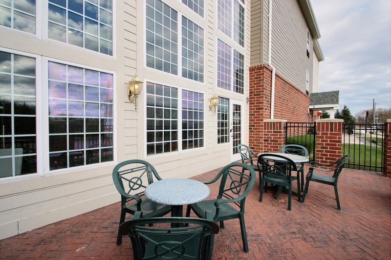Holiday Inn Express & Suites Milwaukee Airport-Patio located outside of indoor pool area at hotel near Hwy 94<br/>Image from Leonardo