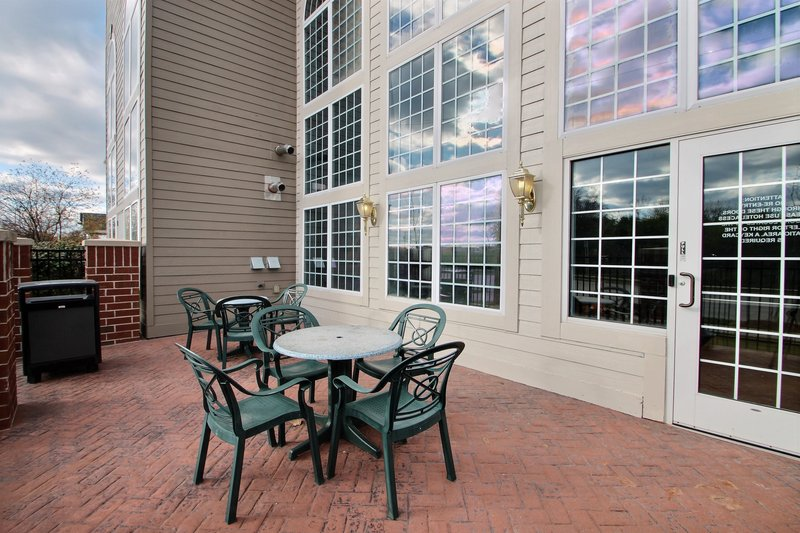 Holiday Inn Express & Suites Milwaukee Airport-Outdoor patio at Milwaukee airport hotel<br/>Image from Leonardo