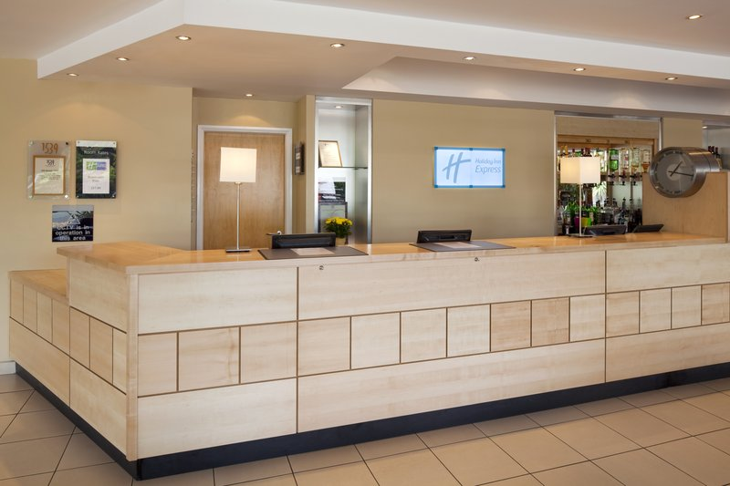 Holiday Inn Express Chester Racecourse-Front Desk<br/>Image from Leonardo