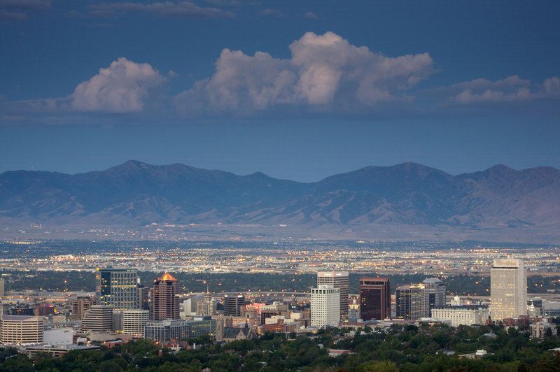 Holiday Inn Express Salt Lake City Downtown-Guests enjoy a westerly view of the Oquirrh Mountains<br/>Image from Leonardo