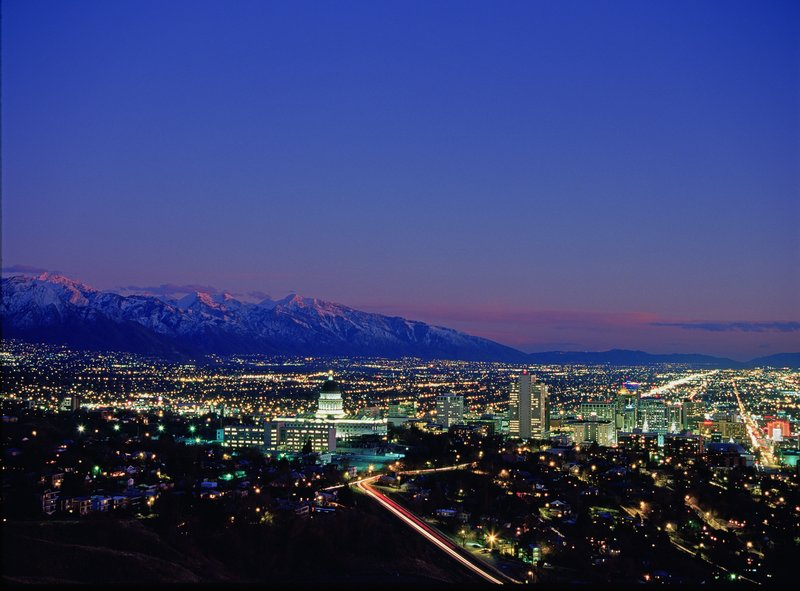 Holiday Inn Express Salt Lake City Downtown-Guests enjoy beautiful views of the downtown Salt Lake skyline<br/>Image from Leonardo