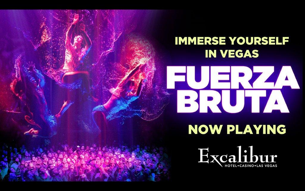 Excalibur Hotel and Casino - Fuerza Bruta <br/>Image from Leonardo