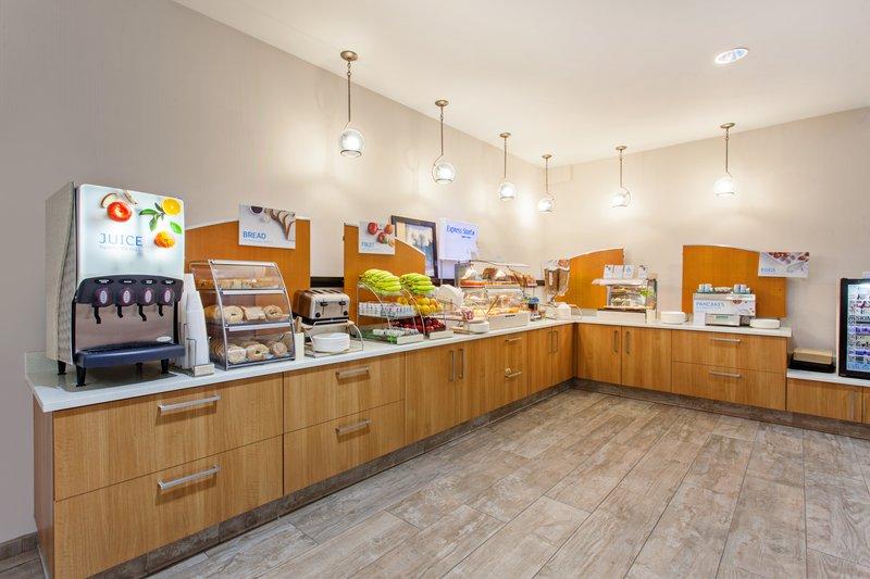 Holiday Inn Express Newport Beach-Breakfast Bar <br/>Image from Leonardo