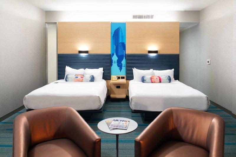 Aloft Tampa Downtown-Queen/Queen Guest Room<br/>Image from Leonardo
