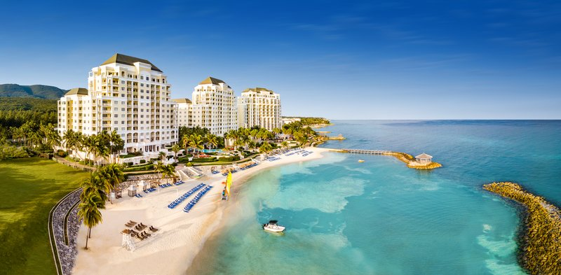Jewel Grande Montego Bay Resort & Spa  - Aerial View All Towers and Beach <br/>Image from Leonardo