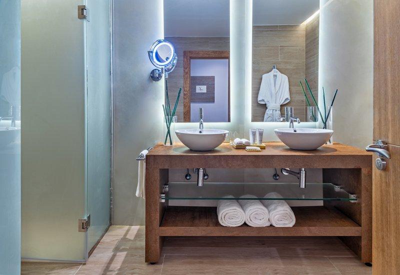 Sanctuary Cap Cana - Luxury Jr Suite Bathroom <br/>Image from Leonardo