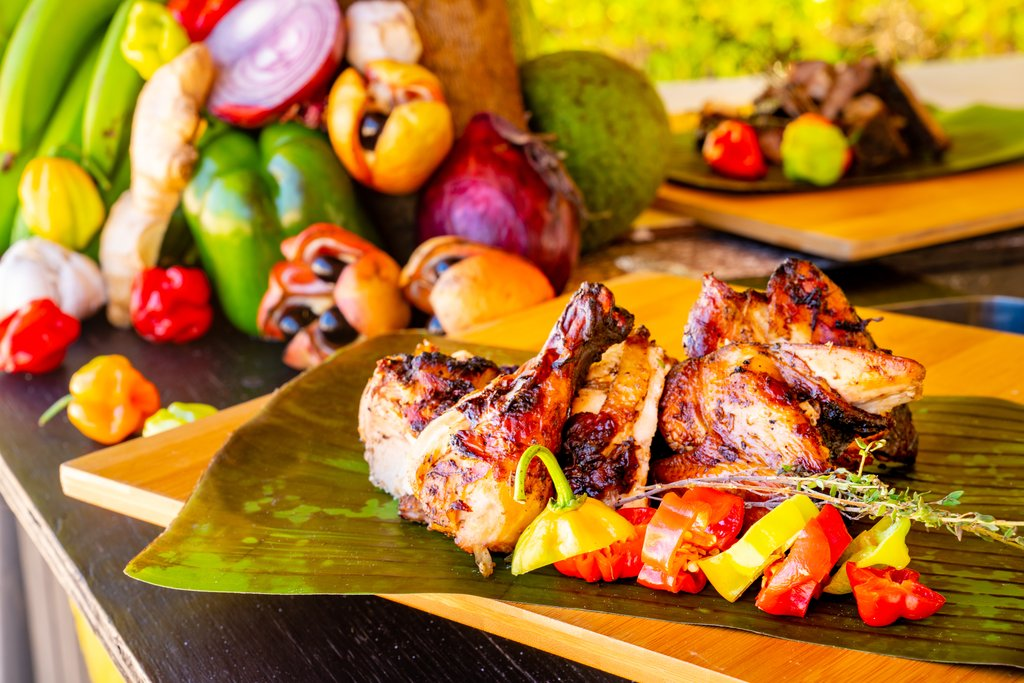 Jewel Paradise Cove Adult Beach Resort -Seaside Jerk Hut Chicken<br/>Image from Leonardo