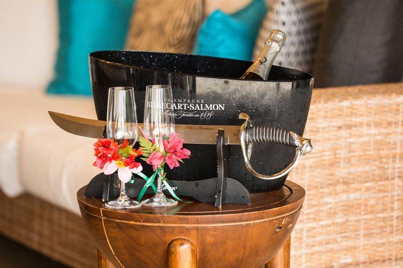 St Regis Resort Bora Bora - Champagne Sabrage <br/>Image from Leonardo