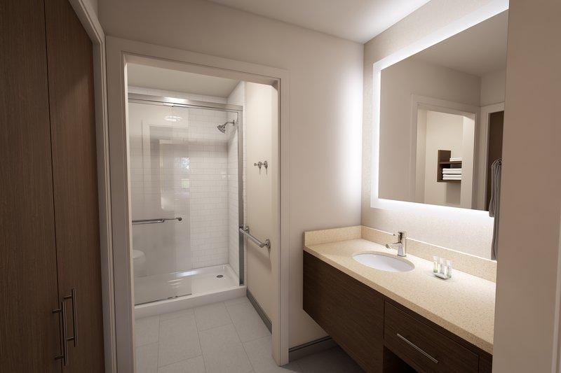 Staybridge Suites Vero Beach-Guestroom Bath Vanity<br/>Image from Leonardo