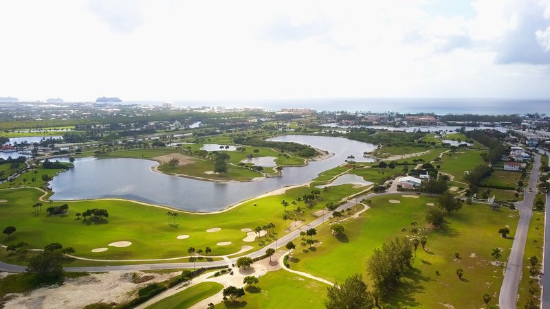 Holiday Inn Resort Grand Cayman-North Sound Golf Club, 18 hole golf course<br/>Image from Leonardo