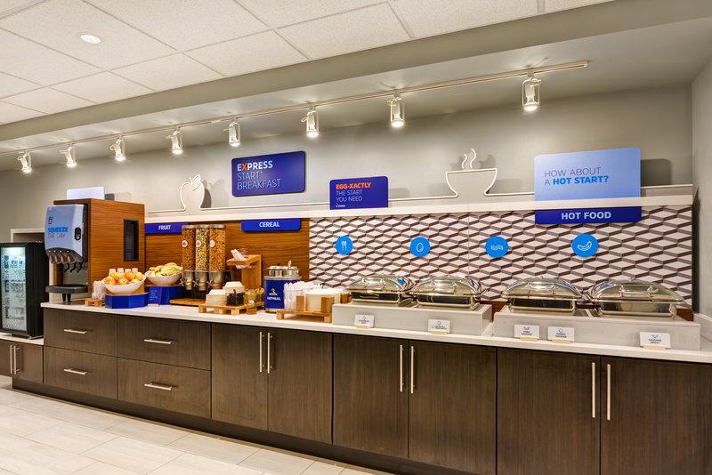 Holiday Inn Express & Suites Milwaukee-New Berlin-Breakfast Bar<br/>Image from Leonardo