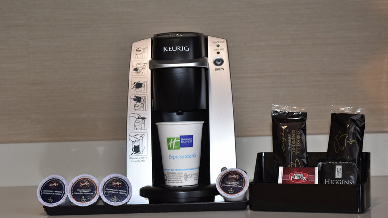 Holiday Inn Express Golden-Kicking Horse-Keurig Coffee Makers<br/>Image from Leonardo