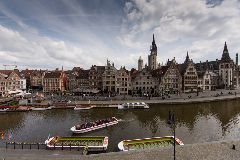 Ghent Marriott Hotel-Canal view<br/>Image from Leonardo