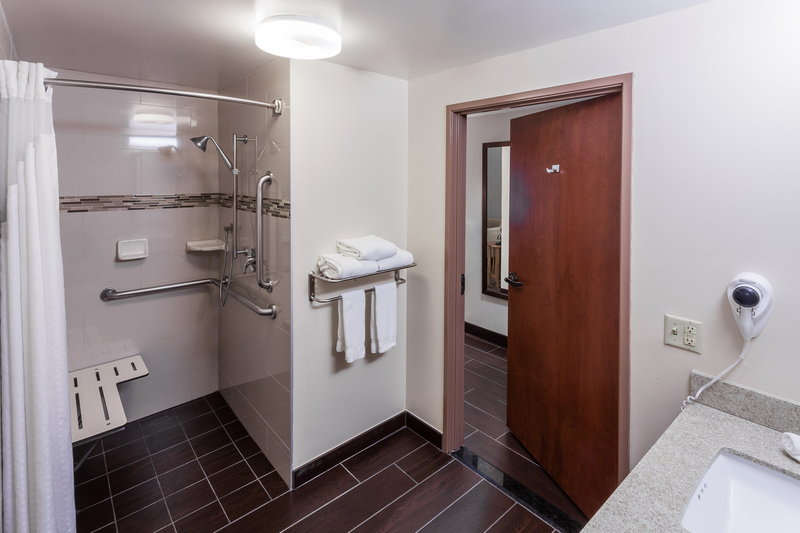 Holiday Inn Express & Suites Carpinteria-Accessible Guestroom Bath w/Roll-In Shower<br/>Image from Leonardo
