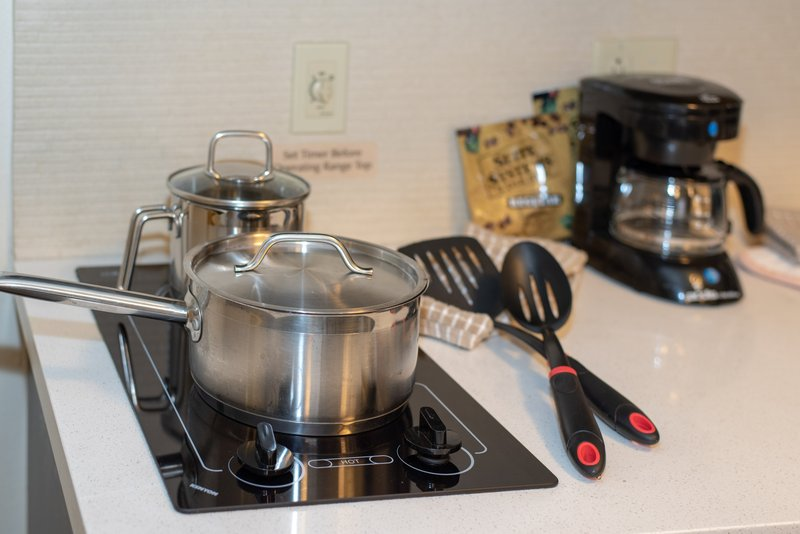 Candlewood Suites Pittsburgh-Airport-Full kitchen with pots & pans as well as cooking utensils<br/>Image from Leonardo