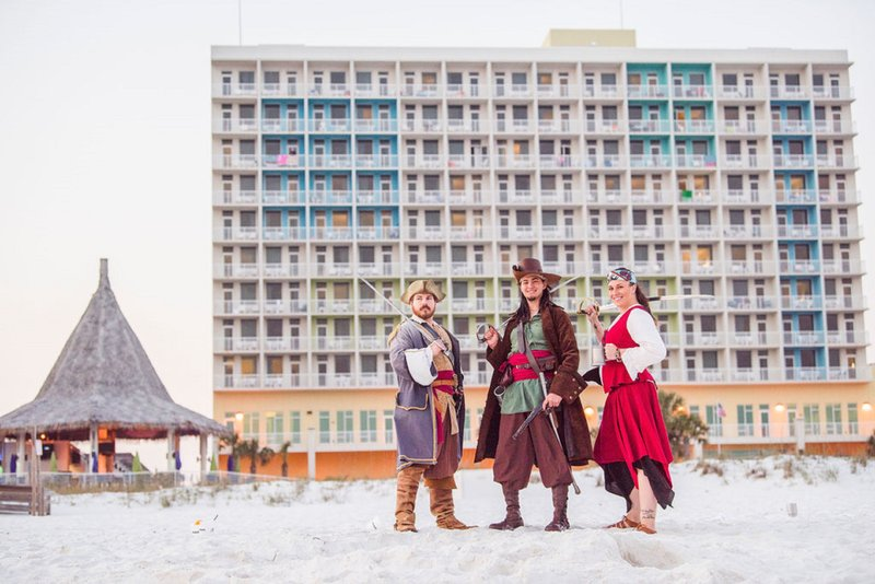 Holiday Inn Resort Pensacola Beach Gulf Front-Pirates at the Resort <br/>Image from Leonardo
