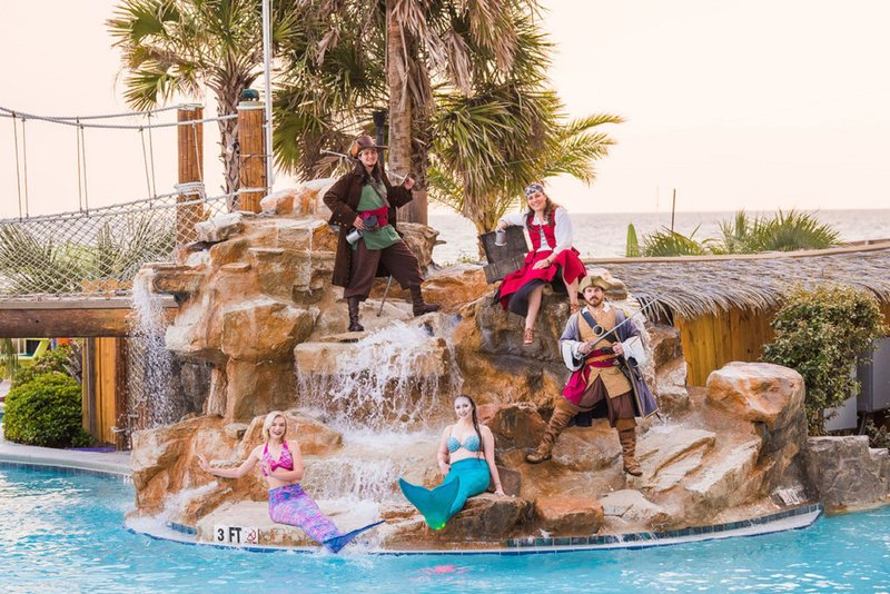 Holiday Inn Resort Pensacola Beach Gulf Front-Pirate and Mermaid shows daily Memorial Day to Labor Day<br/>Image from Leonardo