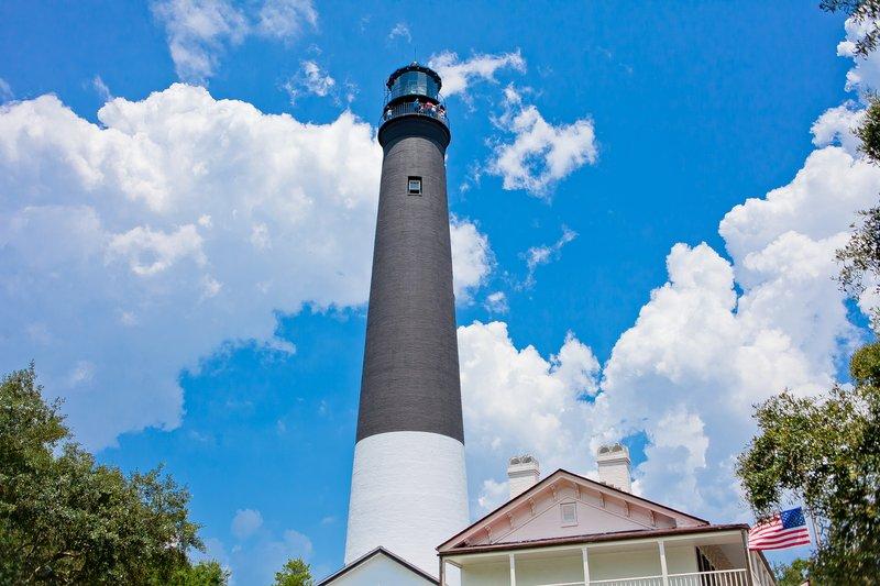 Holiday Inn Resort Pensacola Beach Gulf Front-Historical Light House on NAS Pensacola<br/>Image from Leonardo