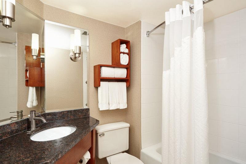 Holiday Inn Express Hampton - Coliseum Central-Standard Guest Bathroom<br/>Image from Leonardo