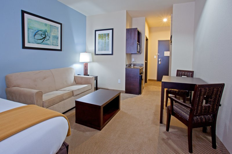Holiday Inn Express Beaumont NW Parkdale Mall-Suite Room, sleeper sofa, 2 chairs and table<br/>Image from Leonardo