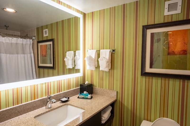 Crowne Plaza Dayton-Get ready for your day in our spacious guest bathroom.<br/>Image from Leonardo