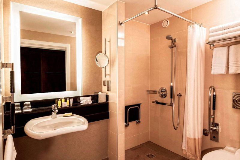 Budapest Marriott Hotel-Accessible Bathroom - Roll-In Shower<br/>Image from Leonardo