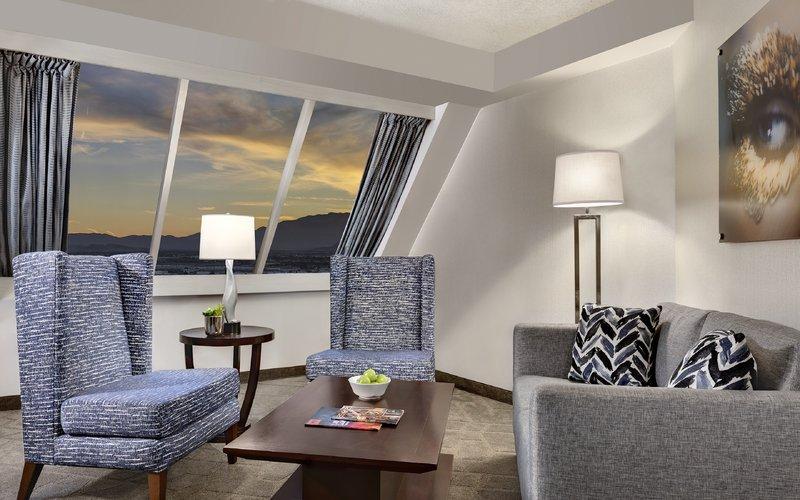 Luxor Resort and Casino-Pyramid Premium Corner Suite Sitting Room<br/>Image from Leonardo