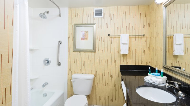 Holiday Inn Express Charleston - Civic Center-Guest Room Bathroom<br/>Image from Leonardo