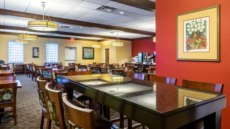 Holiday Inn Express Charleston - Civic Center-Breakfast Seating - Communal Table<br/>Image from Leonardo