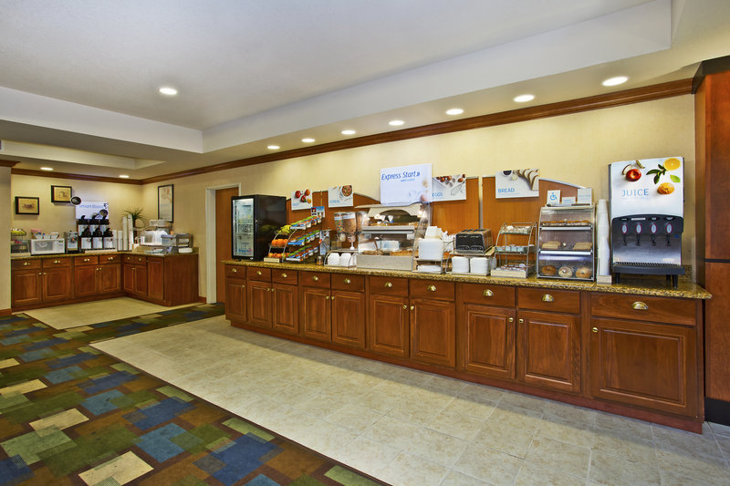 Holiday Inn Express & Suites East Lansing-Wow!  What a nice selection of breakfast items.<br/>Image from Leonardo
