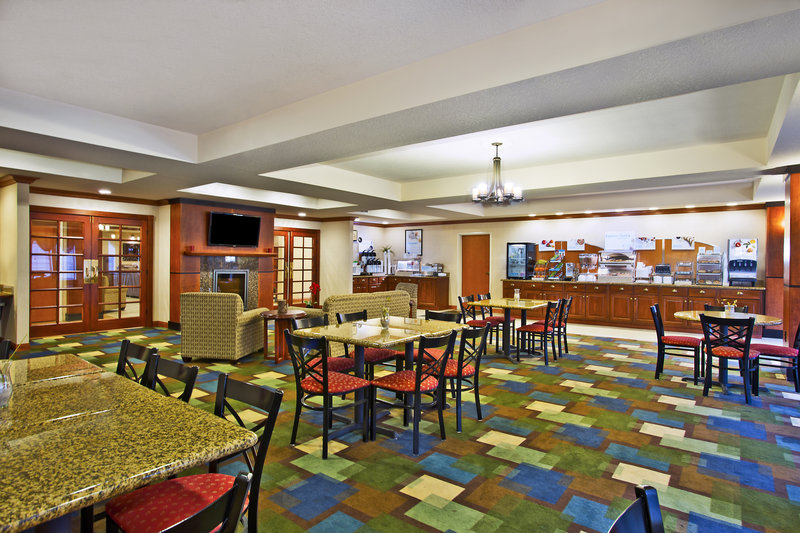 Holiday Inn Express & Suites East Lansing-Very spacious breakfast room to join family and friends.<br/>Image from Leonardo