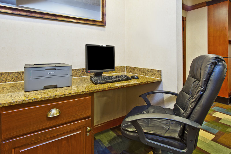 Holiday Inn Express & Suites East Lansing-Complimentary Business Center is available 24 hours per day.<br/>Image from Leonardo