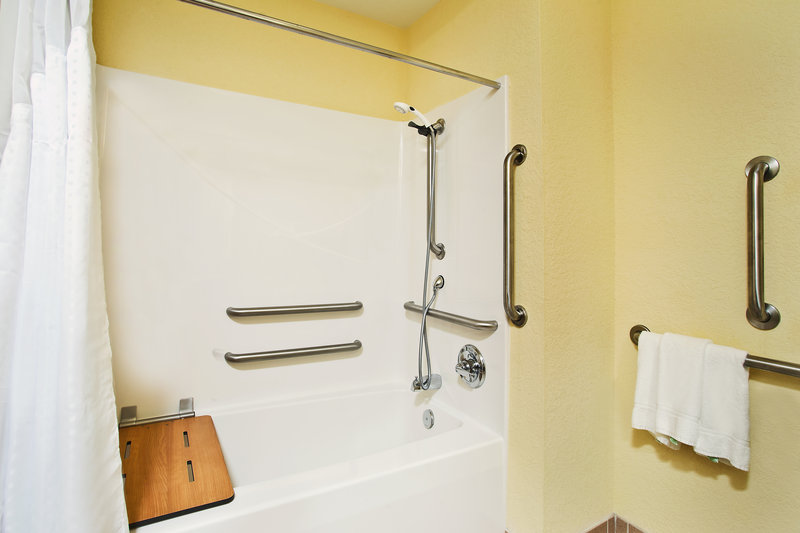 Holiday Inn Express & Suites East Lansing-Mobility Accessible Guest Bathroom<br/>Image from Leonardo