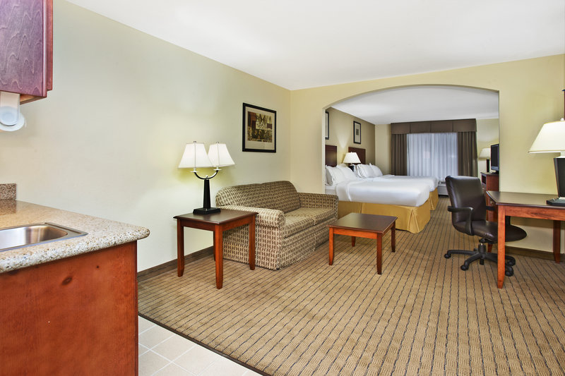 Holiday Inn Express & Suites East Lansing-Our 2 queen bed suites sleep up to 6 people!<br/>Image from Leonardo